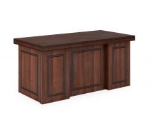 """Длинный офисный стол """"Bern-1"""", цвет - орех темный, стиль - современный"""