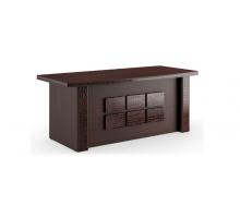 """Длинный офисный стол """"Monza"""", цвет - венге, стиль - современный"""