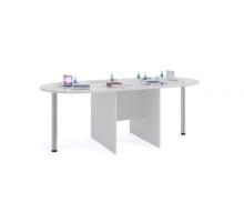 """Длинный офисный стол """"СПР-04"""", цвет - белый, стиль - классический"""