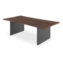 """Длинный офисный стол """"Форт-1"""", цвет - антрацит + олива, стиль - классический"""