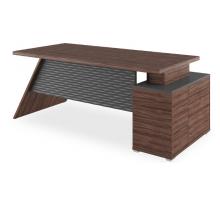 """Длинный офисный стол """"Ирвин"""", цвет - антрацит + олива, стиль - современный"""
