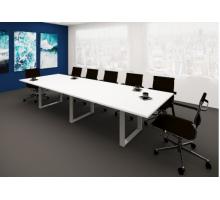 """Длинный офисный стол """"Виртус"""", цвет - акация аури, стиль - современный"""