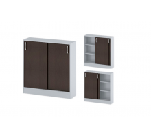 """Офисный стеллаж """"СДР-106"""", цвет - венге + серый, стиль - современный"""