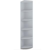 """Офисный стеллаж угловой """"СУ-4 """", цвет - серый, стиль - классический"""