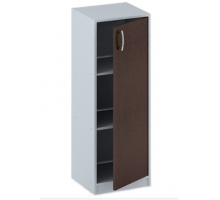 """Офисный стеллаж """"СБ-152"""", цвет - серый + венге, стиль - классический"""