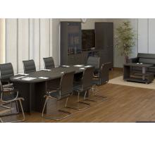 """Офисная переговорная комната """"First"""", цвет - венге цаво, стиль - современный"""