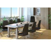 """Офисная переговорная комната """"YALTA"""", цвет - вяз благородный темный, стиль - современный"""