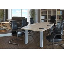 """Офисная переговорная комната """"YALTA-1"""", цвет - акация лорка, стиль - современный"""