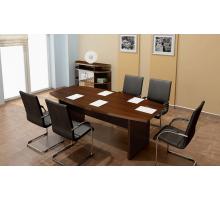 """Офисная переговорная комната """"Тайм"""", цвет - дуб шато, стиль - классический"""