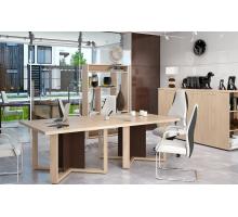 """Офисная переговорная комната """"ALTO"""", цвет - дуб девон + венге, стиль - современный"""