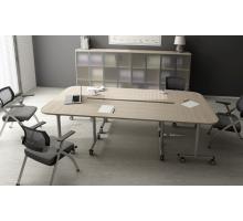 """Офисная переговорная комната """"Bend"""", цвет - шамони светлый, стиль - современный"""