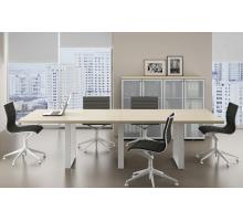 """Офисная переговорная комната """"Fortum"""", цвет - акация аури, стиль - современный"""