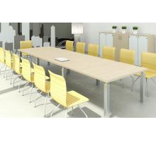 """Офисная переговорная комната """"MULTIMEETING"""", цвет - акация аури, стиль - современный"""