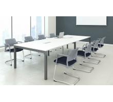 """Офисная переговорная комната """"TEAM-3"""", цвет - белый, стиль - современный"""