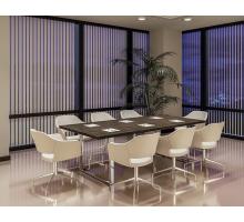 """Офисная переговорная комната """"Rola"""", цвет - табак, стиль - современный"""