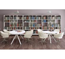 """Офисная переговорная комната """"ASTRO-2"""", цвет - белый, стиль - современный"""
