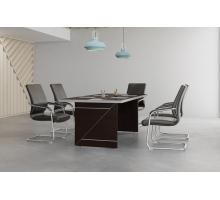 """Офисная переговорная комната """"Zoom"""", цвет - темный дуб, стиль - современный"""
