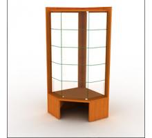 """Угловая витрина торговая """"Вира-1"""", цвет - вишня, стиль - современный"""
