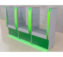 """Торговая стойка """"DoB-40"""", цвет - белый + зеленый, стиль - современный"""