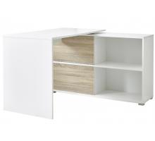 Компьютерный стол L - образный, цвет белый, стиль - современный