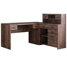 Компьютерный стол L - образный с ящиками, цвет коричневый, стиль - классический