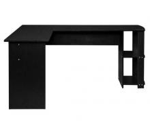 Компьютерный стол L - образный, цвет черный, стиль - современный