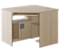 Угловой компьютерный стол, цвет дуб, стиль - современный