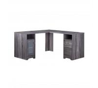 Компьютерный стол L - образный, цвет темно серый, стиль - смешанный