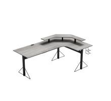 Компьютерный стол L - образный, цвет металлик, стиль - модерн