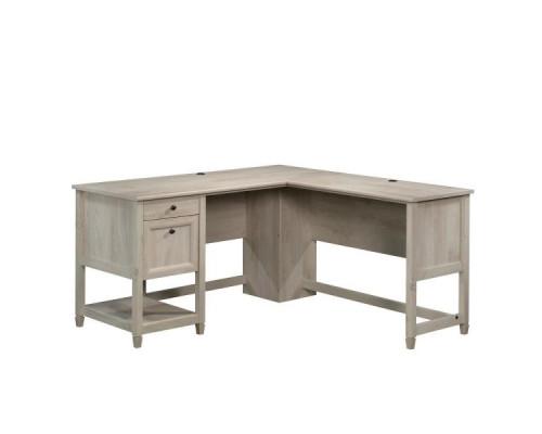 Компьютерный стол L - образный, белого цвета, стиль - коттедж